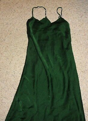 Forest Green Full Slip Size Small Vintage  1920s or 1930s