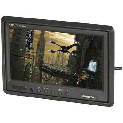 7 inch TFT LCD Widescreen Colour Monitor with IR Remote