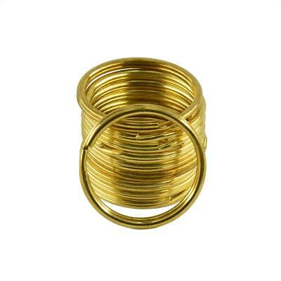 10pcs Gold Metal Round Split Rings Double Ring Keyring Findings for Craft