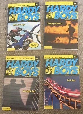 """Lot of 4 """"All New"""" Hardy Boys Undercover Brothers  #s 1-4  by Franklin W. Dixon"""