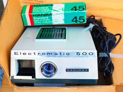 Vintage Old Hanimex Electromatic Projector In Box, (H480)