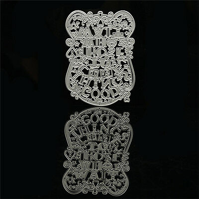 Good Things Come To Those Who Wait Stencil Cutting Dies Schablone Stanzschablone