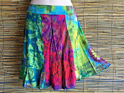 Lot of 5 spandex panel skirts.New vibrant colors.1 fit.Hippie,boho fashion.New.