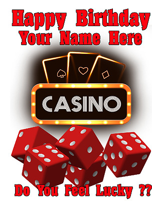 Lucky Casino Las Vegas Cptmi15 Happy Birthday Card A5 Personalised Greetings