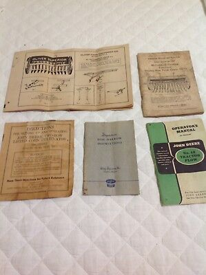 Vintage Farm Equipment Manuals John Deere, Oliver, McCormick, MF Ca 30s And 40s