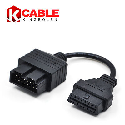 20pin To 16 pin OBDII OBD2 Car Diagnostic Tool Adapter Connector Cable For KIA