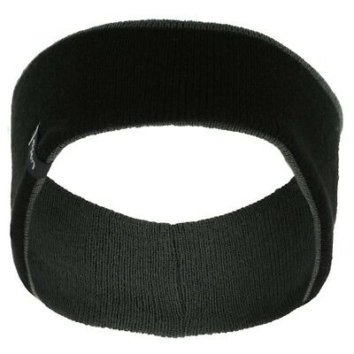 Reversible Running/Jogging/Hiking Black/Grey Lined Acrylic Headband/Ears Warmer