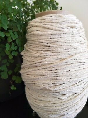 macrame cord  3mm 120m 250g rope string 100% cotton single twist twisted