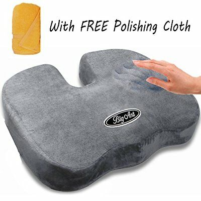 Coccyx Seat Cushion - Orthopedic Comfort Memory Foam for Back Pain and