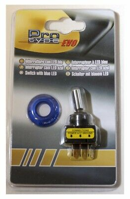 Interruttore switch universale auto sportivo con led base blu