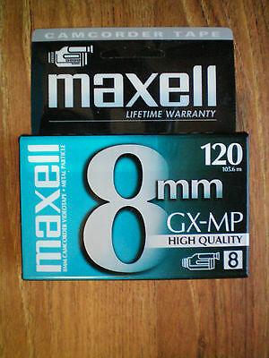 Maxell GX-MP 8mm 120Min High Quality Video Camcorder Tape NEW