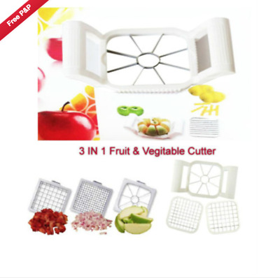 Multi-Chopper 3 in 1 Apple Fruit or Potato Slicer EASY CUTTER,Chef kitchen tool