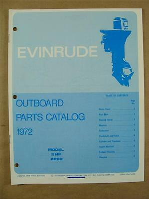 1972 Omc Evinrude Johnson 2 Hp Mod 2202 Outboard Motor Engine Parts Catalog 4934