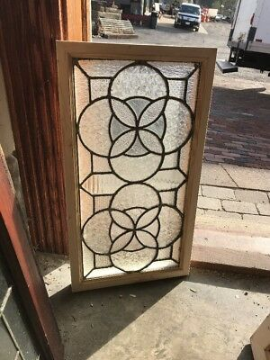 Sg1646 Antique Textured Glass Transom Window 25 1/8 X 13.75