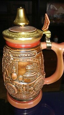 Avon 1989 Tribute To American Firefighters Stein Numbered Brazil New In Box