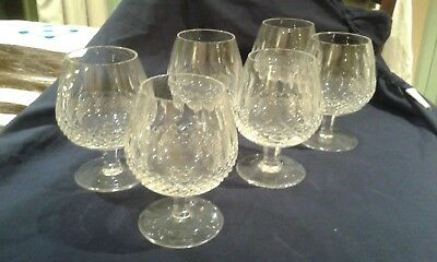"""WATERFORD Crystal - COLLEEN Cut - XL Brandy Glass / Glasses - 5"""""""
