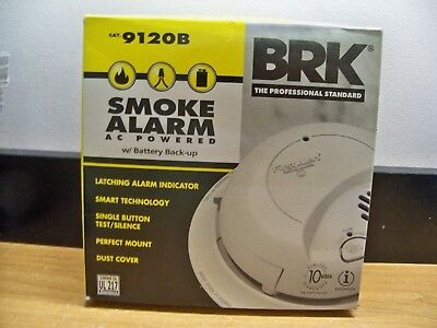 BRK First Alert Smoke Detector Alarm AC Powered 9120B With
