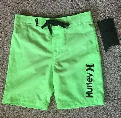 Hurley Active boys Size 4 XS board shorts swim trunks the one and only msrp $36