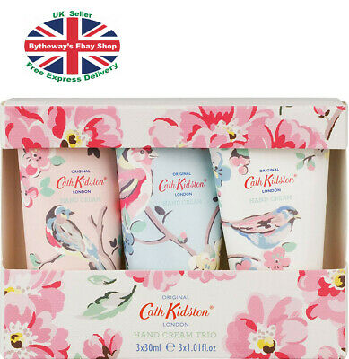 Cath Kidston Assorted Blossom Birds Hand Cream Trio 3 X 30ml *BRAND NEW*