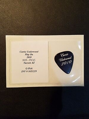 Carrie underwood 2010 Guitar Pick.