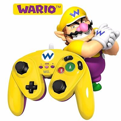 PDP Wired Fight Pad - Wario (Nintendo Wii U)