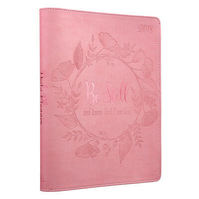 "2018 Executive Daily Planner Pink ""Be Still and Know That I Am God"""