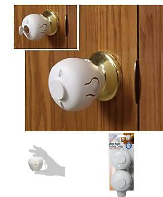 Child Door Knob Anti-Lock Safety Cover Lock Proof Home No-Locking Guard Kidproof