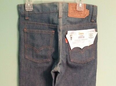 Vtg 1977 Levi's 716 Saddleman Boot Jeans 27 X 34 Student Rigid Denim Orange Tab