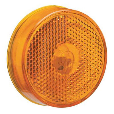 """12-PACK Grote 45833 Clearance Amber Marker Lamp Truck Light Reflector 2-1/2"""" NEW"""