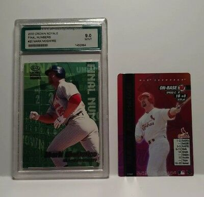 2 Card Lot of St Louis Cardinals Mark McGwire 1 PSA graded 9.0 and a 2000 card