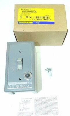 Square D FHP Manual Starter Switch FG1P Type 2510 1 Pole Toggle Wall Pilot Light