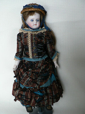 """Antique 12"""" Closed Mouth ABG Bisque Doll Turned Head All Original Sweet!"""