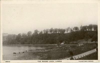 Real Photo Postcard Of The Round Loch, Lundie, (Near Dundee), Angus, Scotland