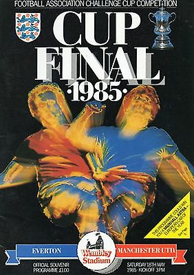EVERTON v MANCHESTER UNITED FA CUP FINAL 1985