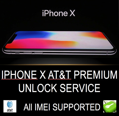 At&t Premium Factory Unlock Service For Iphone X All Imei Supported