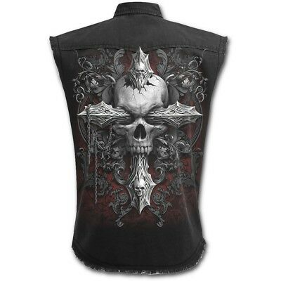 Spiral Direct CROSS OF DARKNESS - Sleeveless Worker Metal/Biker/Rock/Skulls
