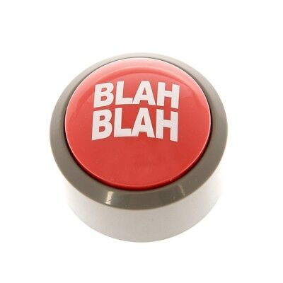 Novelty Blah Blah Blah Button Desk Buzzer 5 Phrase Office Prank Light Up Joke