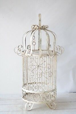 Antique/Vintage Wrought Iron Bird Cage Vintage Birdcage Hanging Or Table Top