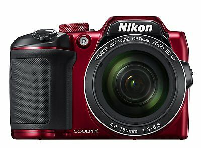 "Nikon COOLPIX B500 Digital Camera 3"" Display 16MP 40x Optical Red BUNDLE GIFTS"