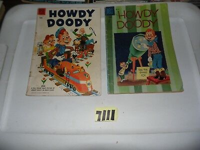 Howdy Doody lot of 2 Dell Comics #811 and #34