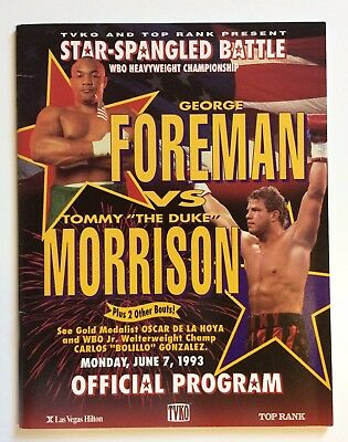 George Foreman vs Tommy Morrison Boxing Programme WBO World Title 1993