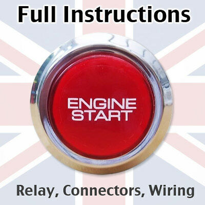 Engine Start Button for Smart ForTwo Roadster Coupe Brabus Crossblade Trim RC