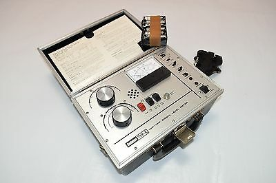Vintage Sadelco 719-C Signal Level Meter VHF-UHF in Case NICE Attenuator Volts