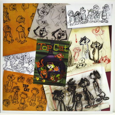 TOP CAT &  the GANG Collage PRINT Hanna Barbera Mixed Media art