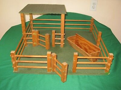 Wood Stable / Stall / Barn / Shed and Corral for Traditional Breyer Horse