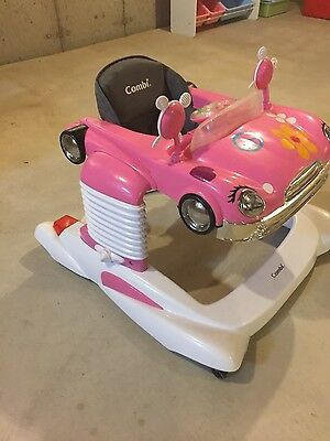 Combi All-in-One Baby Activity Walker Car Mobile Entertainer Jumper Pink  USED