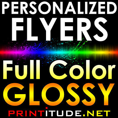"500 Flyers 8.5""x5.5"" Full Color 2 Sided 100Lb Glossy Aq Coated 8.5X5.5 Half Page"