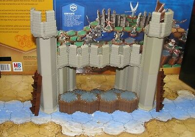 Fortress Wall terrain 9 hex walk ladder Heroscape D&D Arena of the Planeswalkers