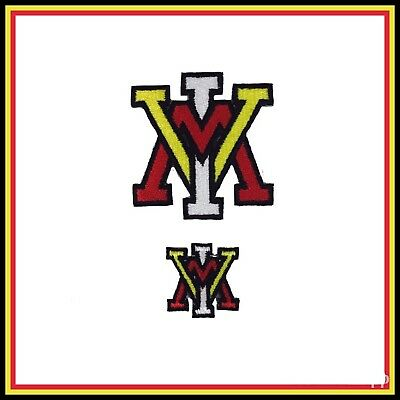 "Lot of (2) VMI Keydets Vintage Embroidered Iron On Patch (NOS) 2"" and 1"""
