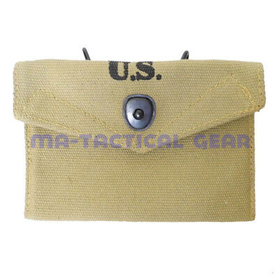 Reproduction Canvas Webbing M1 First Aid Pouch Bag Metal Hook 1942 Collection